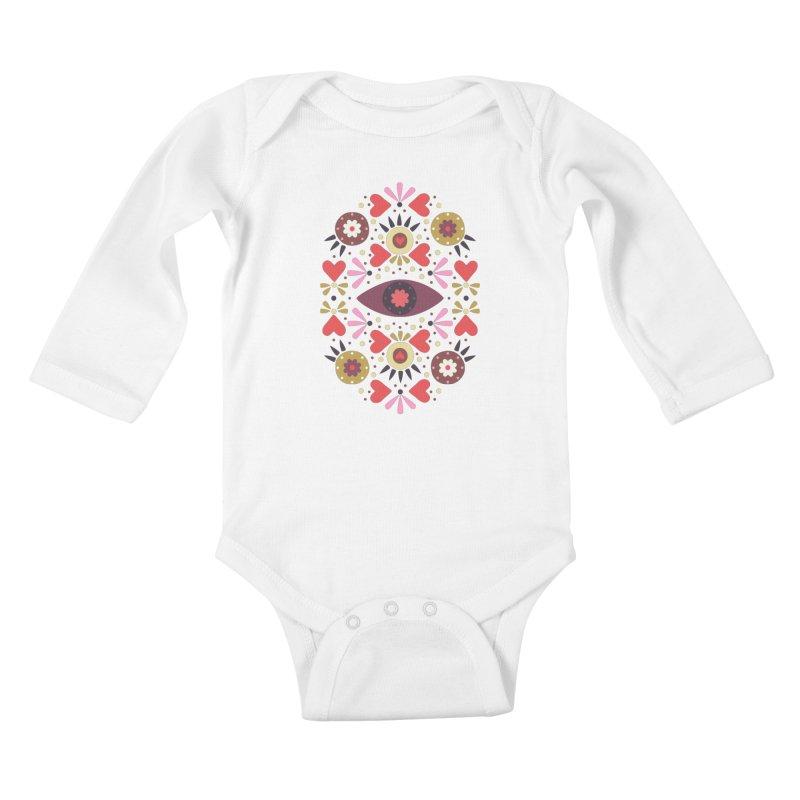 Lovely Folk Kids Baby Longsleeve Bodysuit by Kira Seiler