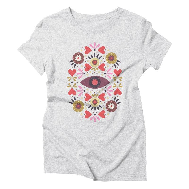 Lovely Folk Women's Triblend T-Shirt by Kira Seiler