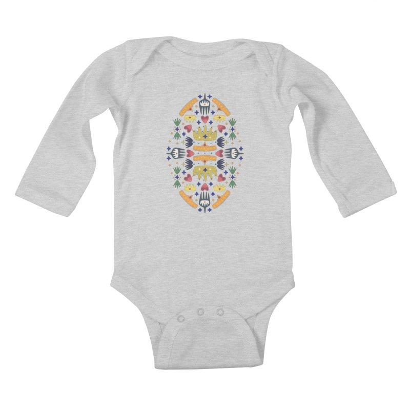 Crown Folk Kids Baby Longsleeve Bodysuit by Kira Seiler