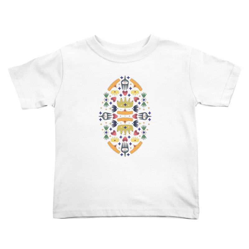 Crown Folk Kids Toddler T-Shirt by Kira Seiler