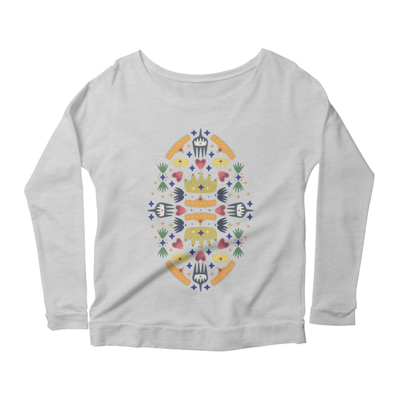 Crown Folk Women's Longsleeve Scoopneck  by Kira Seiler