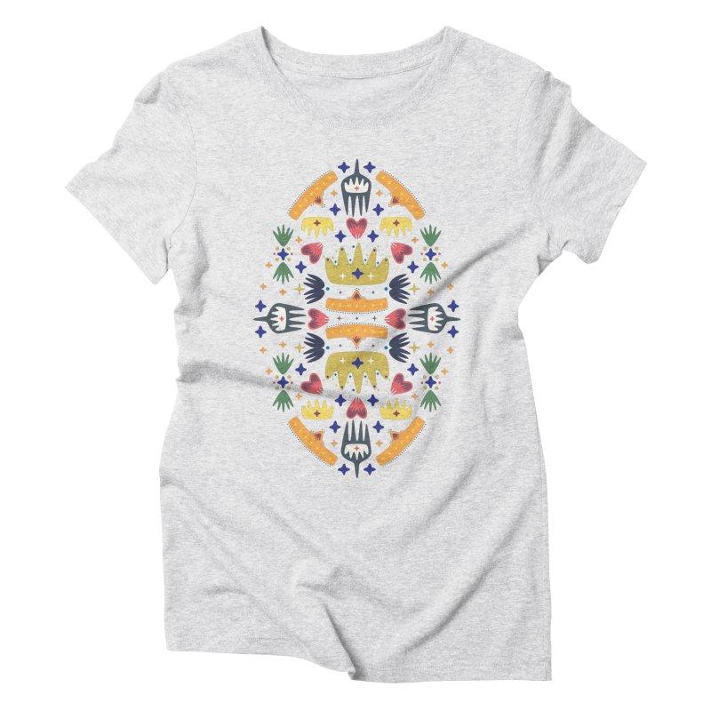 Crown Folk Women's Triblend T-Shirt by Kira Seiler