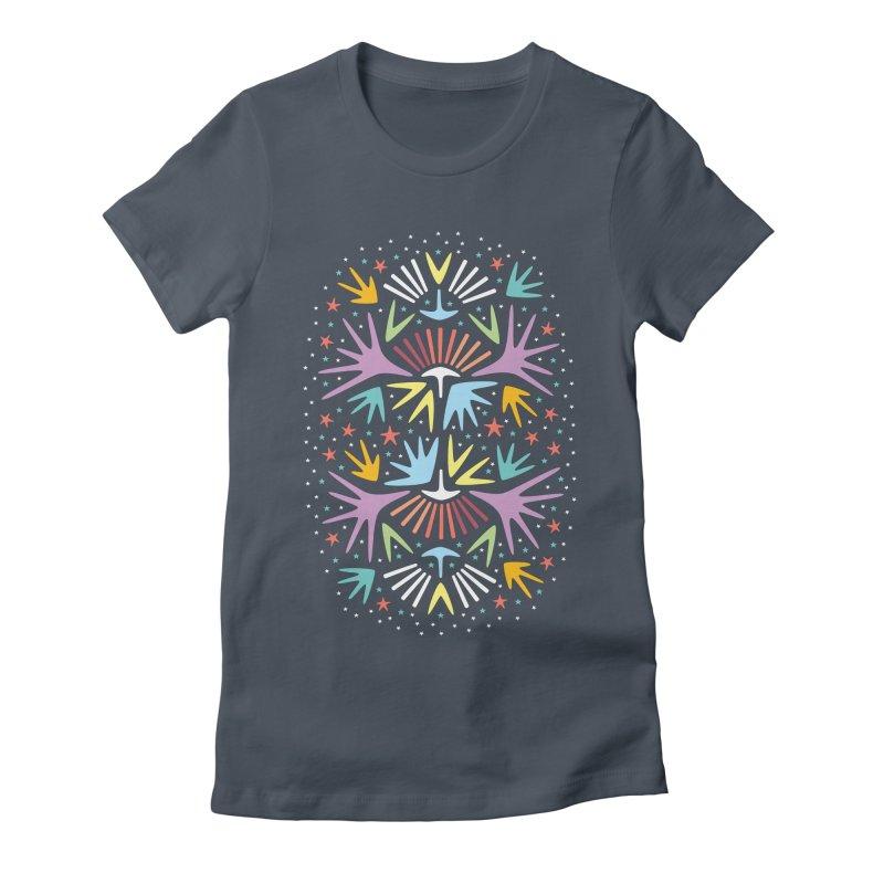 Miami Nights Women's Fitted T-Shirt by Kira Seiler