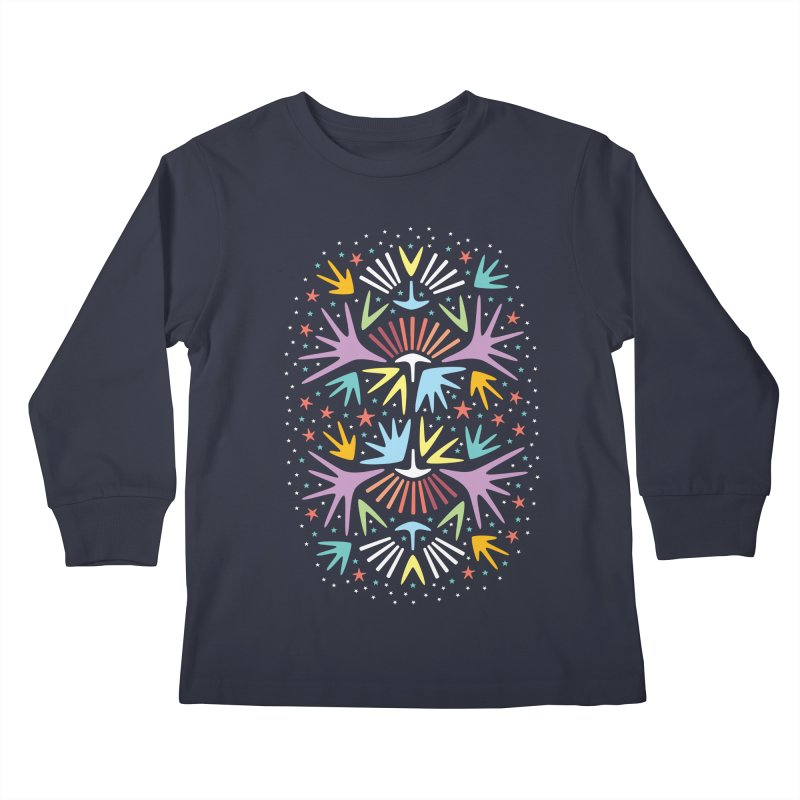 Miami Nights Kids Longsleeve T-Shirt by Kira Seiler
