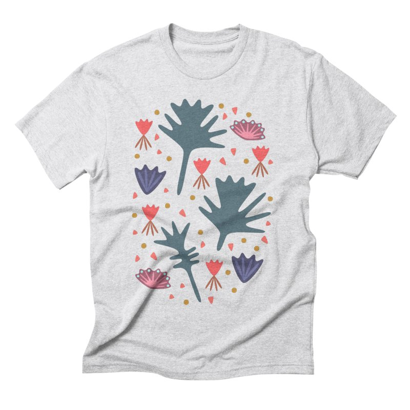 Raining Roses Men's Triblend T-Shirt by Kira Seiler