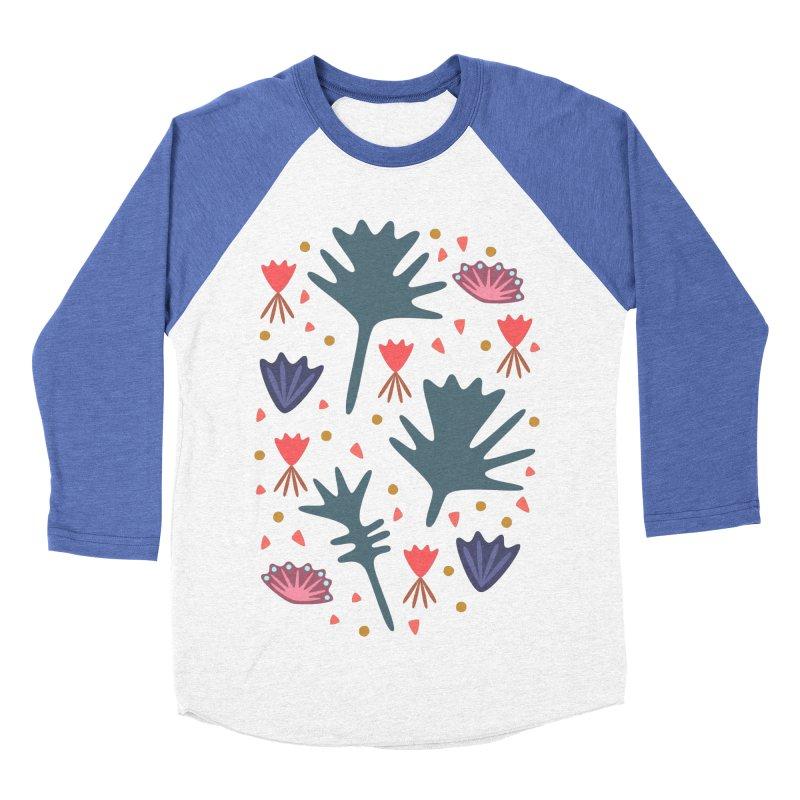 Raining Roses Men's Baseball Triblend T-Shirt by Kira Seiler