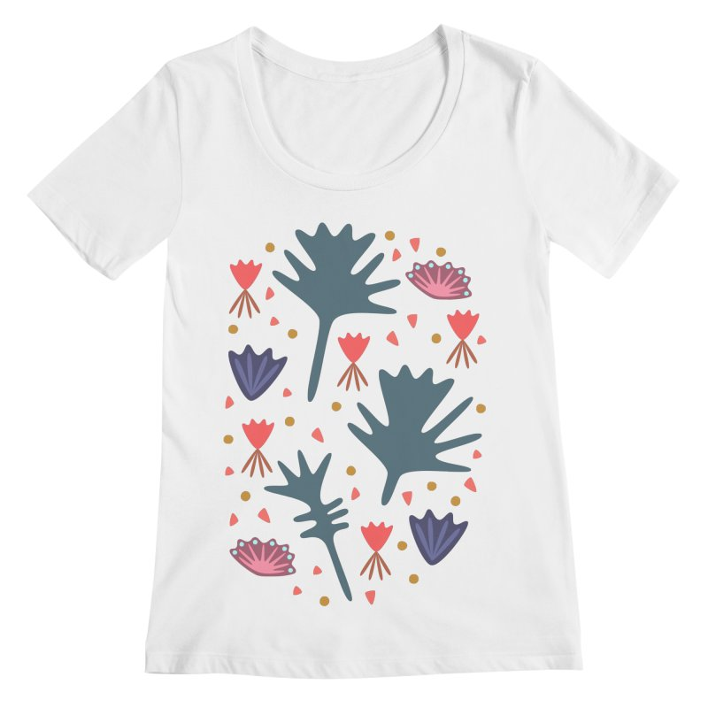 Raining Roses Women's Scoopneck by Kira Seiler
