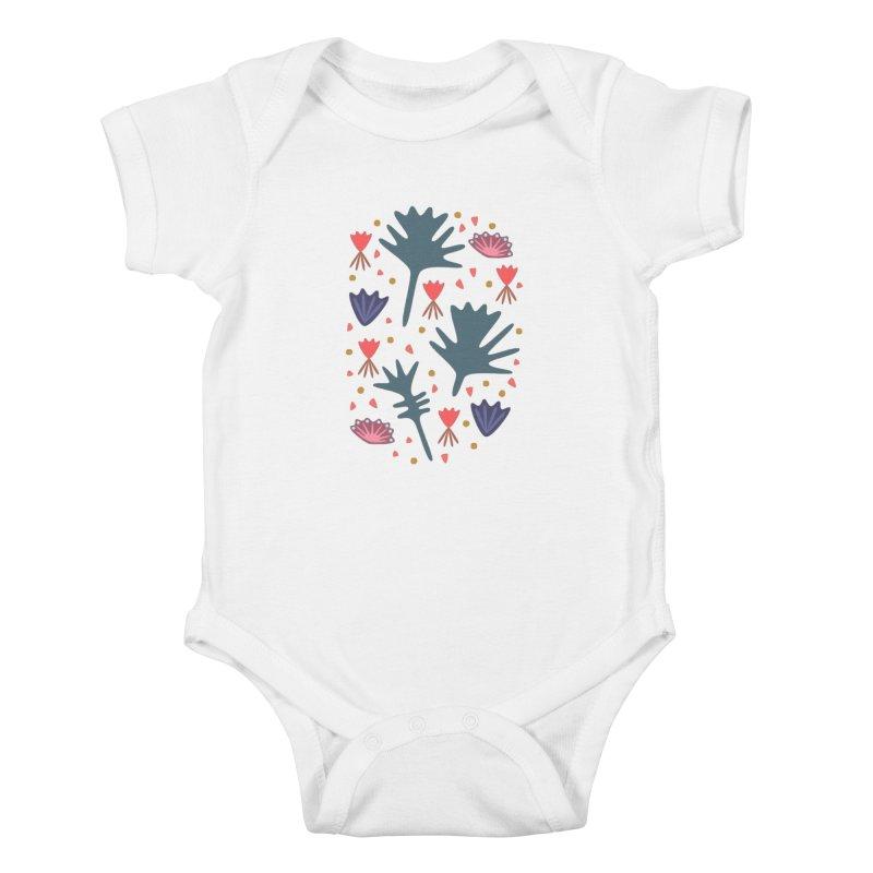 Raining Roses Kids Baby Bodysuit by Kira Seiler