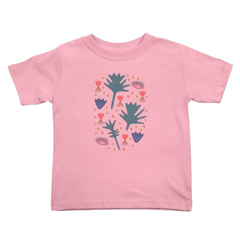 Raining Roses Kids Toddler T-Shirt by Kira Seiler