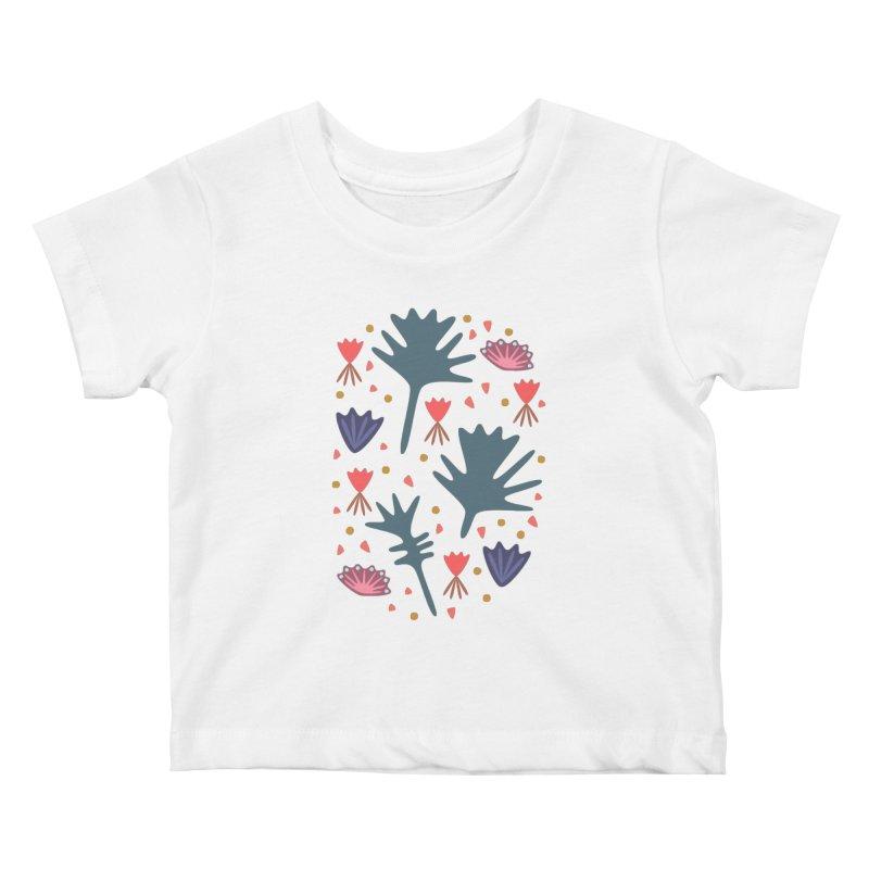 Raining Roses Kids Baby T-Shirt by Kira Seiler