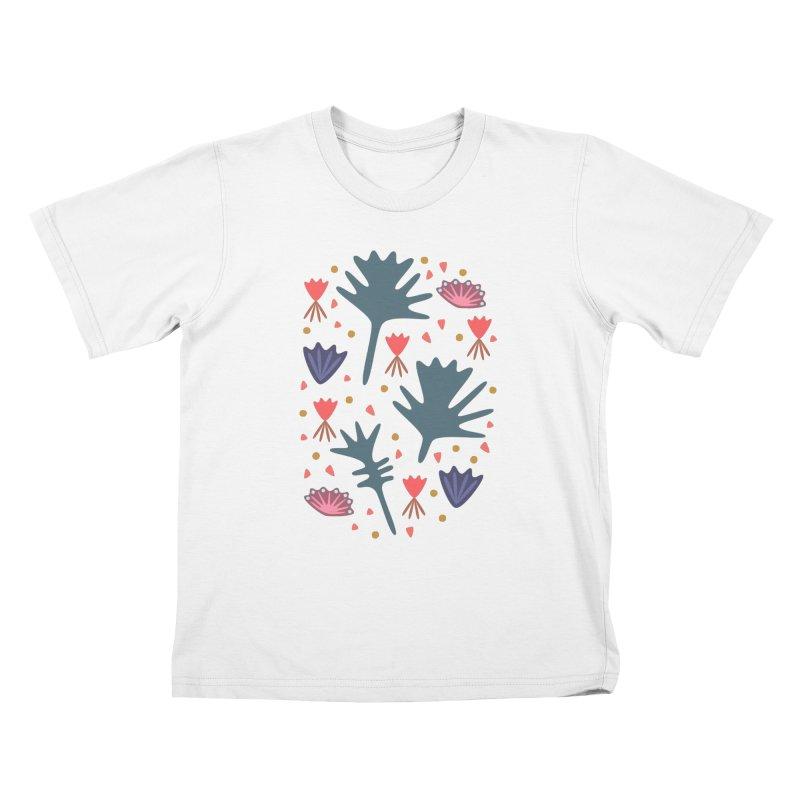 Raining Roses Kids T-Shirt by Kira Seiler