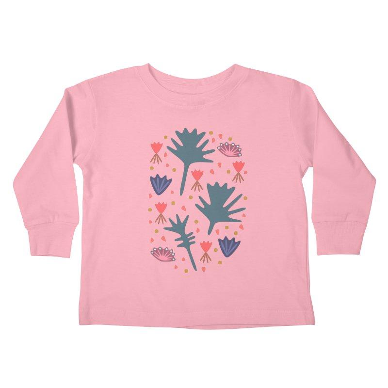 Raining Roses Kids Toddler Longsleeve T-Shirt by Kira Seiler