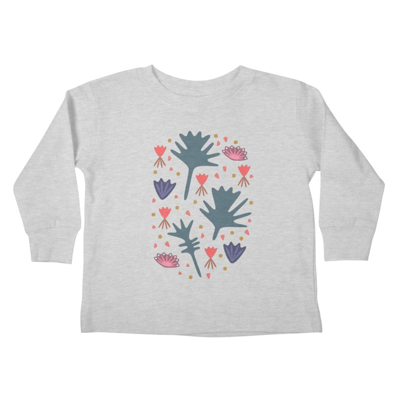 Raining Roses Kids Toddler Longsleeve T-Shirt by Kira Seiler