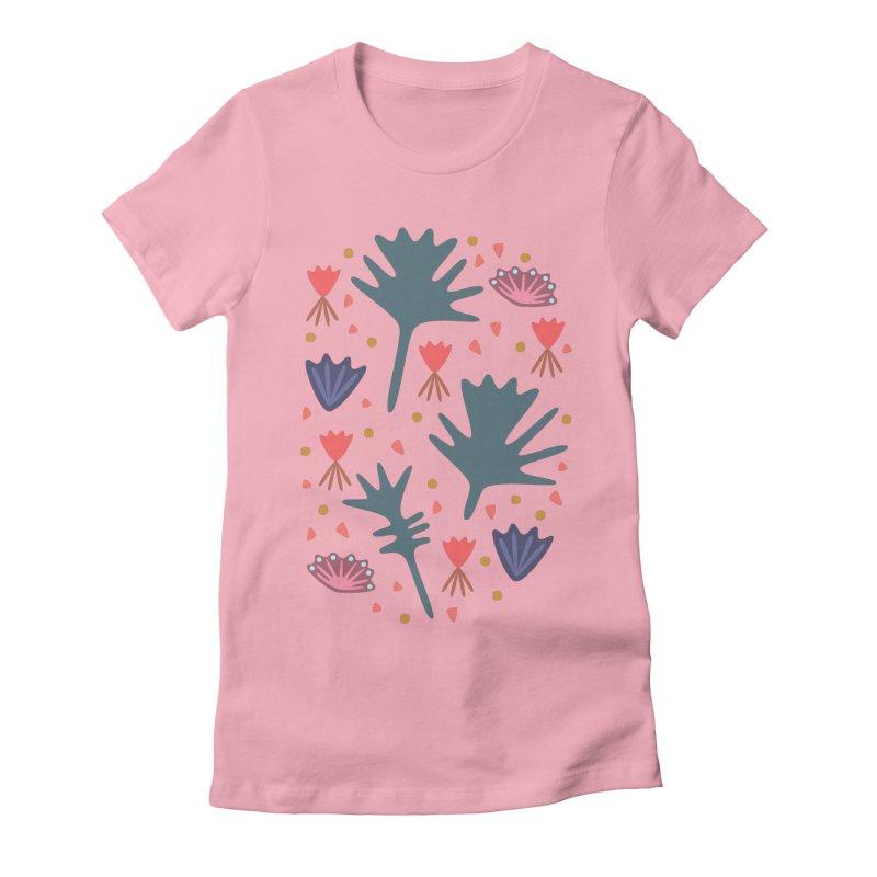 Raining Roses Women's Fitted T-Shirt by Kira Seiler