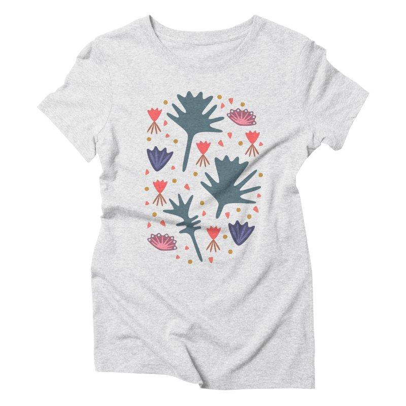 Raining Roses Women's Triblend T-Shirt by Kira Seiler