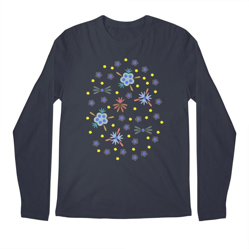 Retro Bloom Men's Longsleeve T-Shirt by Kira Seiler