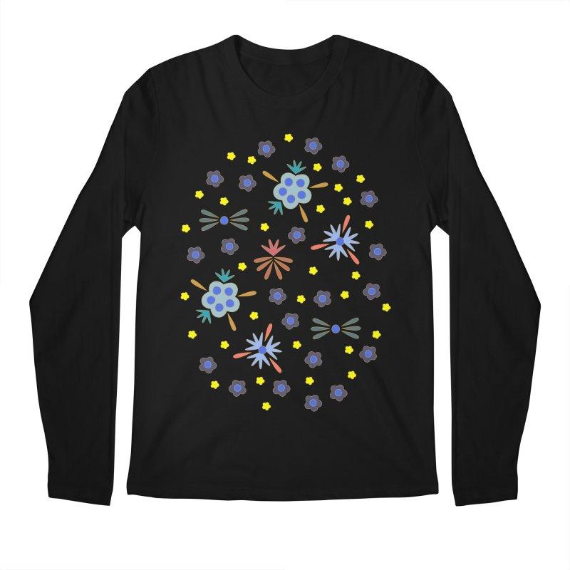 Retro Bloom Men's Regular Longsleeve T-Shirt by Kira Seiler