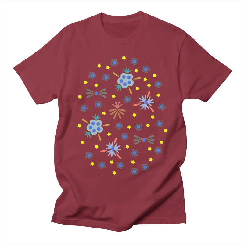 Retro Bloom Men's T-Shirt by Kira Seiler