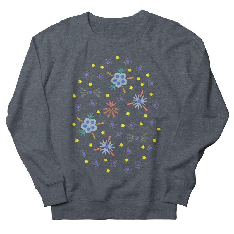 Retro Bloom Women's French Terry Sweatshirt by Kira Seiler