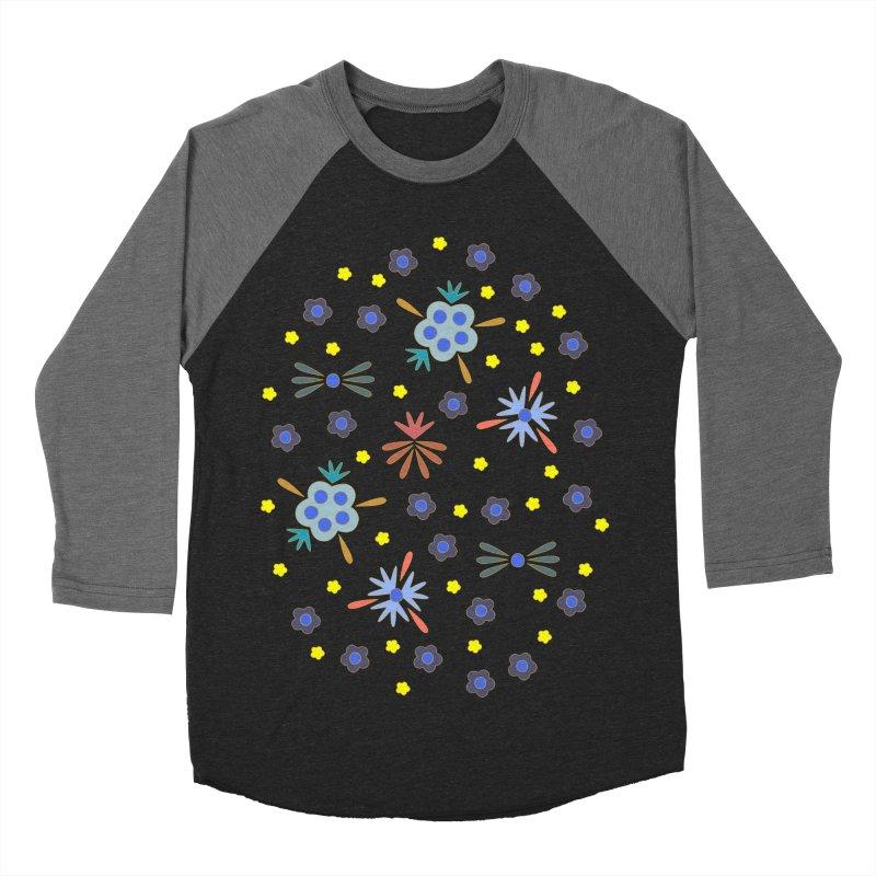 Retro Bloom Men's Baseball Triblend T-Shirt by Kira Seiler