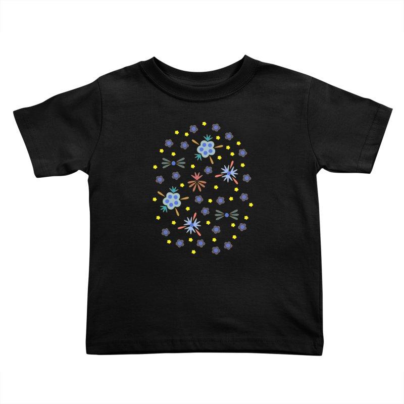 Retro Bloom Kids Toddler T-Shirt by Kira Seiler