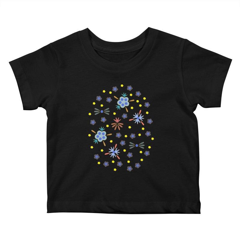 Retro Bloom Kids Baby T-Shirt by Kira Seiler