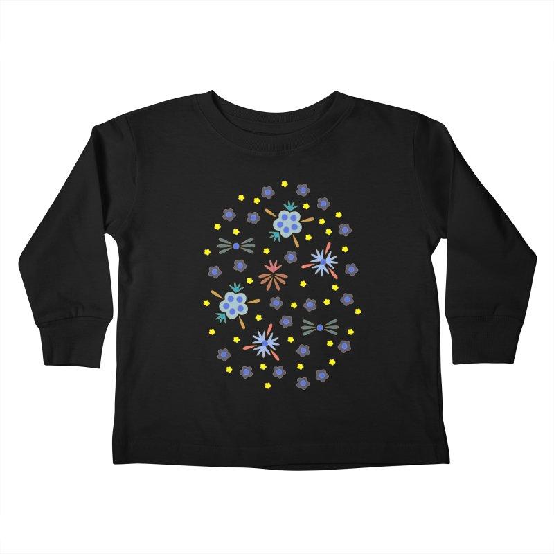 Retro Bloom Kids Toddler Longsleeve T-Shirt by Kira Seiler