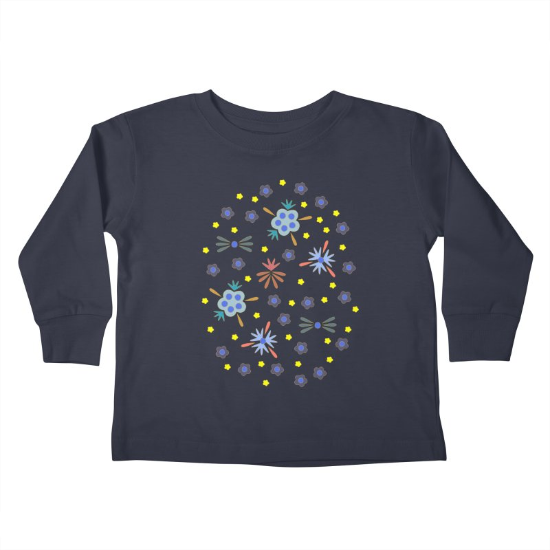 Retro Bloom Kids Toddler Longsleeve T-Shirt by Kira Seiler