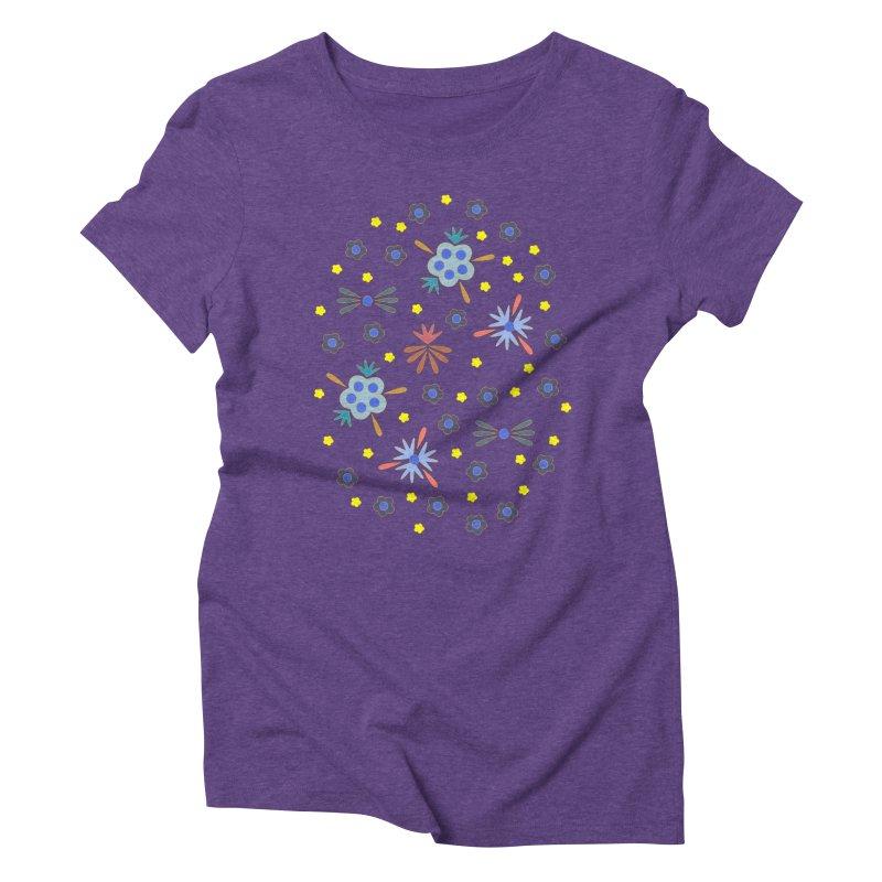 Retro Bloom Women's Triblend T-Shirt by Kira Seiler