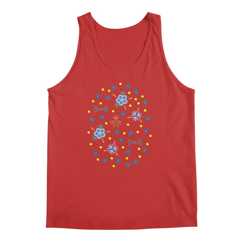 Retro Bloom Men's Regular Tank by Kira Seiler
