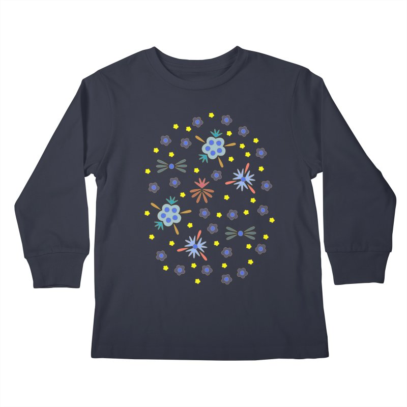 Retro Bloom Kids Longsleeve T-Shirt by Kira Seiler