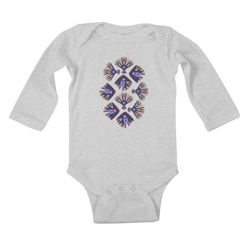 Palm Springs Kids Baby Longsleeve Bodysuit by Kira Seiler