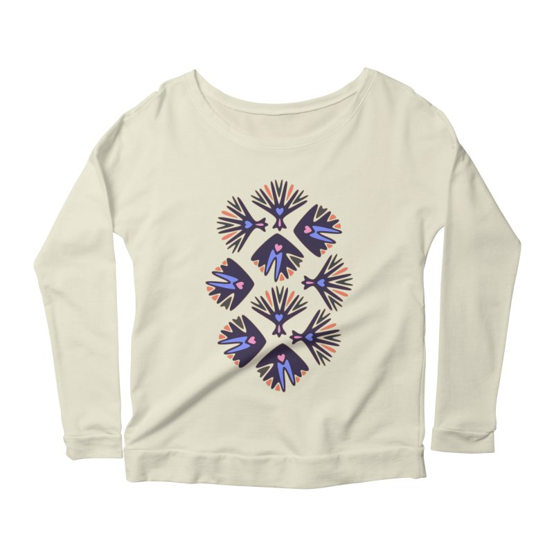 Palm Springs Women's Longsleeve Scoopneck  by Kira Seiler