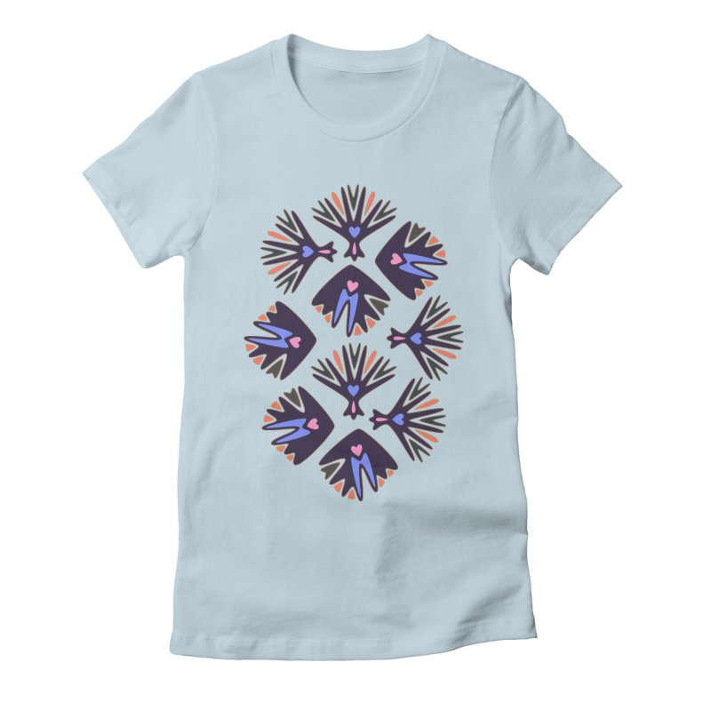 Palm Springs Women's Fitted T-Shirt by Kira Seiler