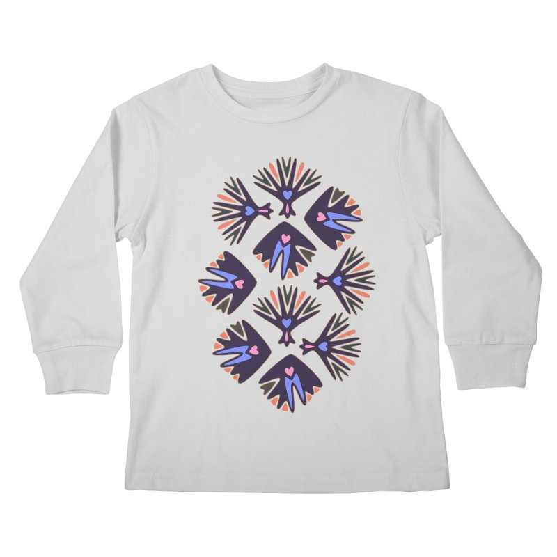 Palm Springs Kids Longsleeve T-Shirt by Kira Seiler