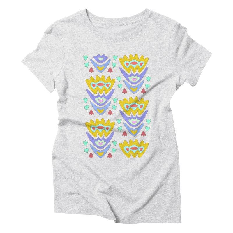 Triumph Tulips Women's Triblend T-Shirt by Kira Seiler