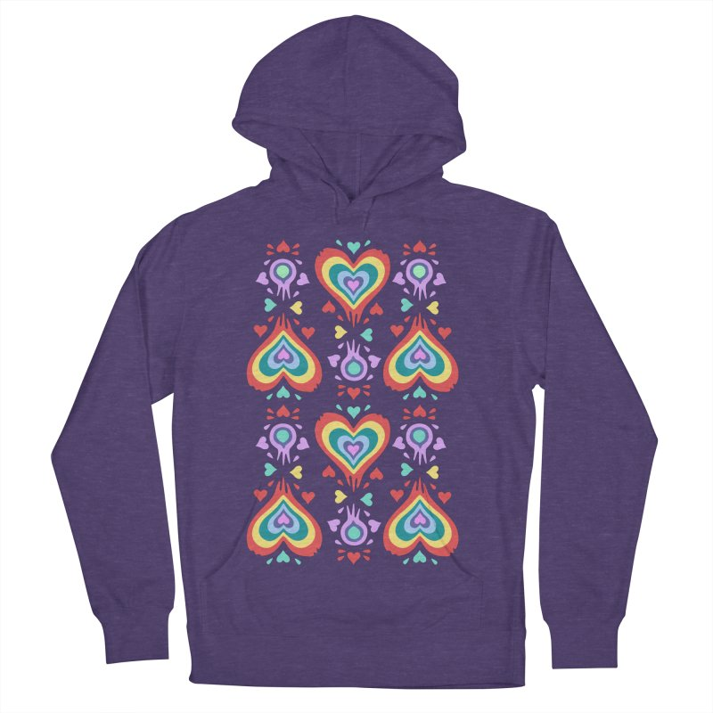 Heart of Hearts Women's French Terry Pullover Hoody by Kira Seiler