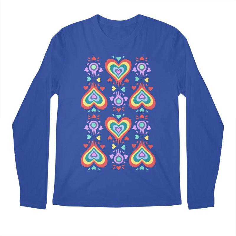 Heart of Hearts Men's Regular Longsleeve T-Shirt by Kira Seiler