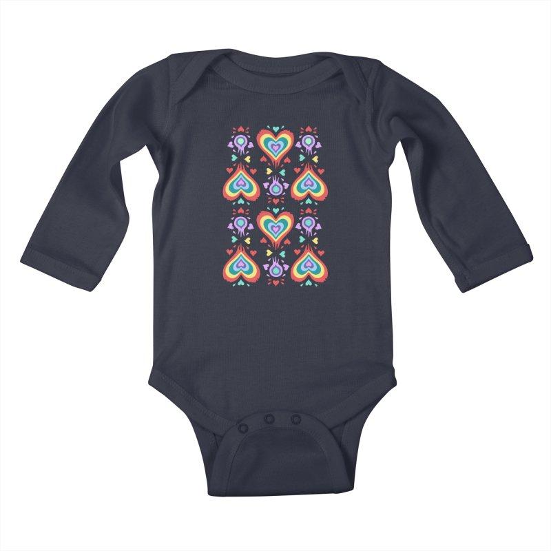 Heart of Hearts Kids Baby Longsleeve Bodysuit by Kira Seiler