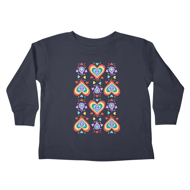 Heart of Hearts Kids Toddler Longsleeve T-Shirt by Kira Seiler