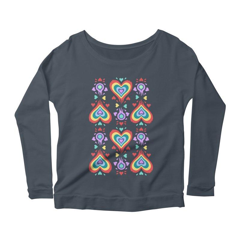 Heart of Hearts Women's Longsleeve Scoopneck  by Kira Seiler