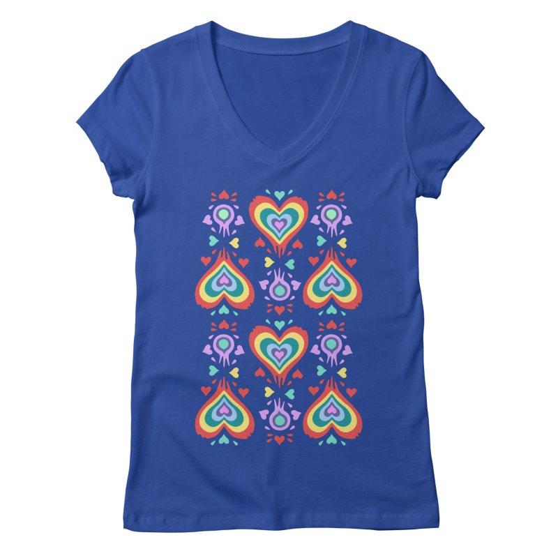 Heart of Hearts Women's Regular V-Neck by Kira Seiler