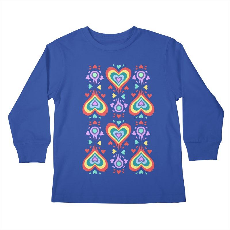 Heart of Hearts Kids Longsleeve T-Shirt by Kira Seiler