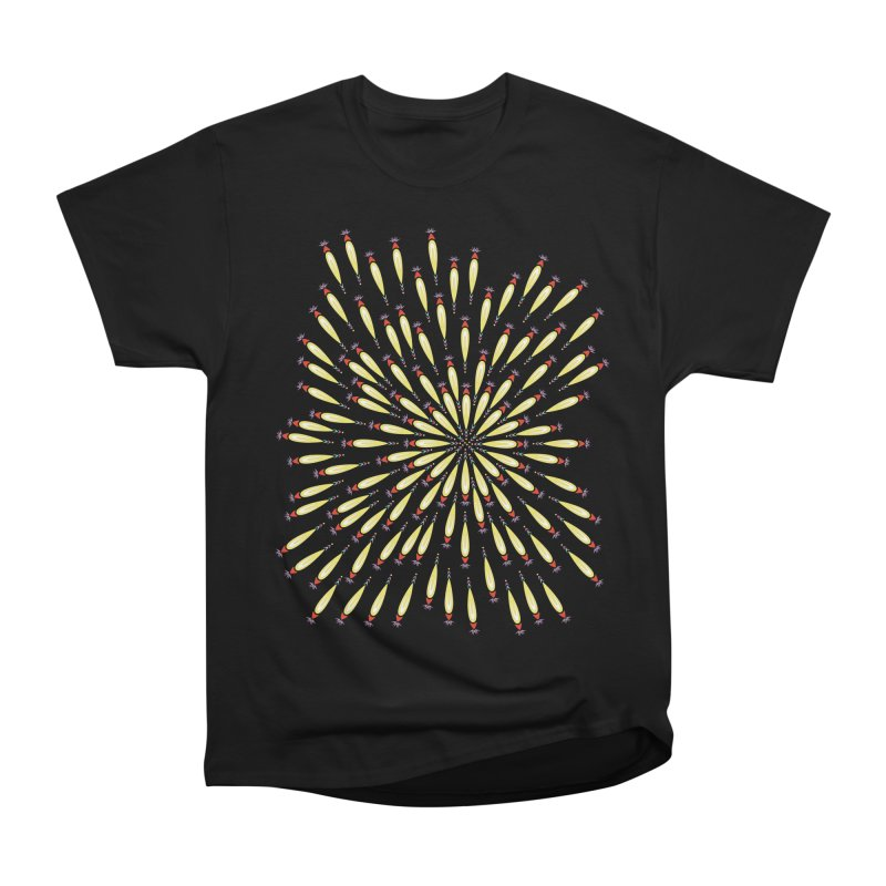 Flower Burst Women's Heavyweight Unisex T-Shirt by Kira Seiler