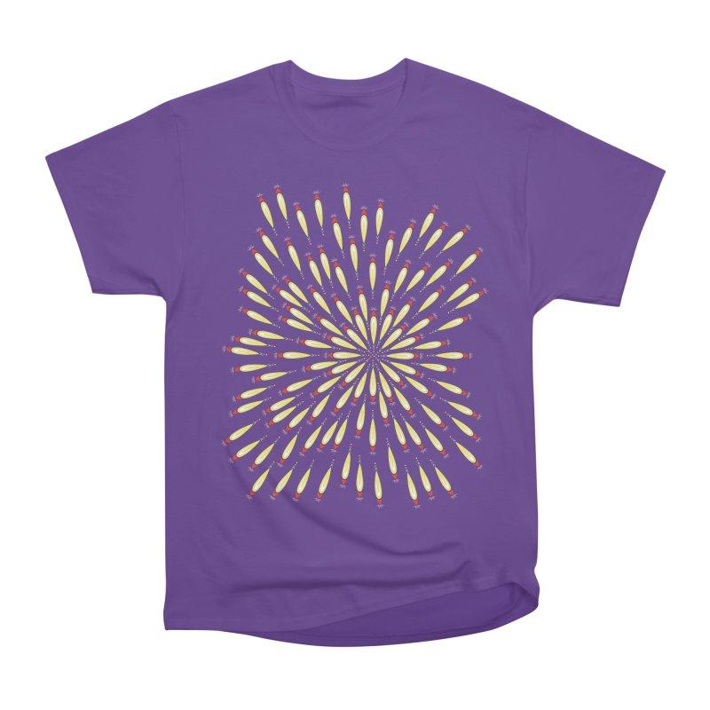 Flower Burst Men's Heavyweight T-Shirt by Kira Seiler