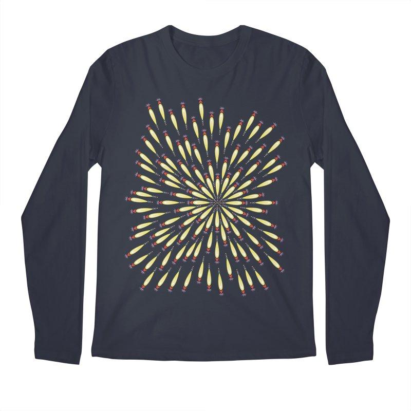 Flower Burst Men's Regular Longsleeve T-Shirt by Kira Seiler