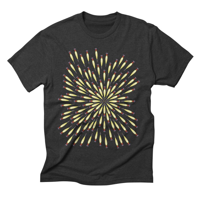 Flower Burst Men's Triblend T-Shirt by Kira Seiler