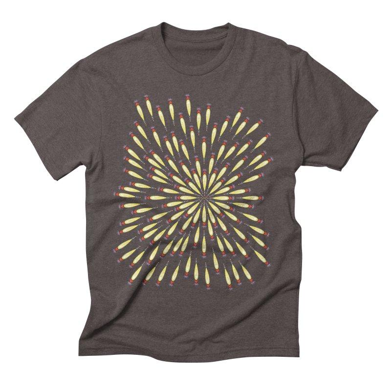 Flower Burst Men's Triblend T-Shirt by Kira Seiler