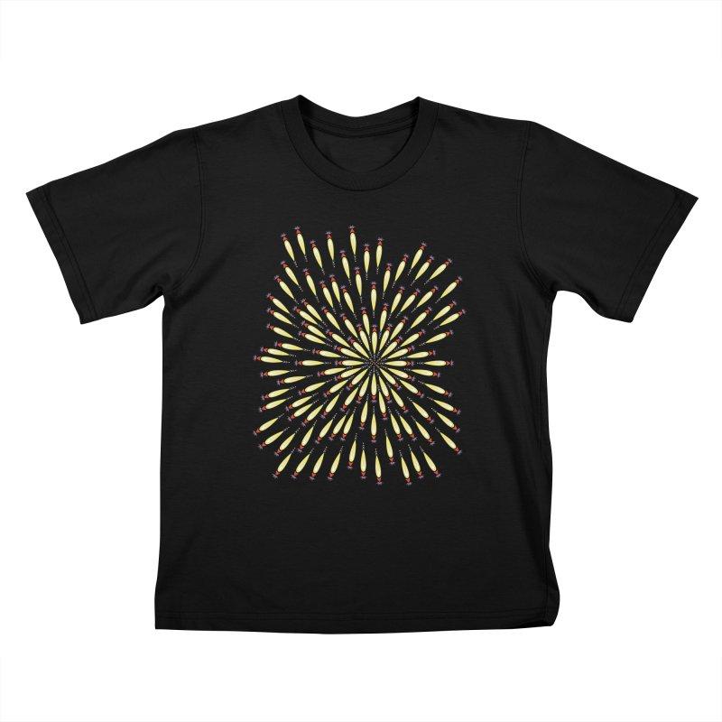 Flower Burst Kids T-Shirt by Kira Seiler