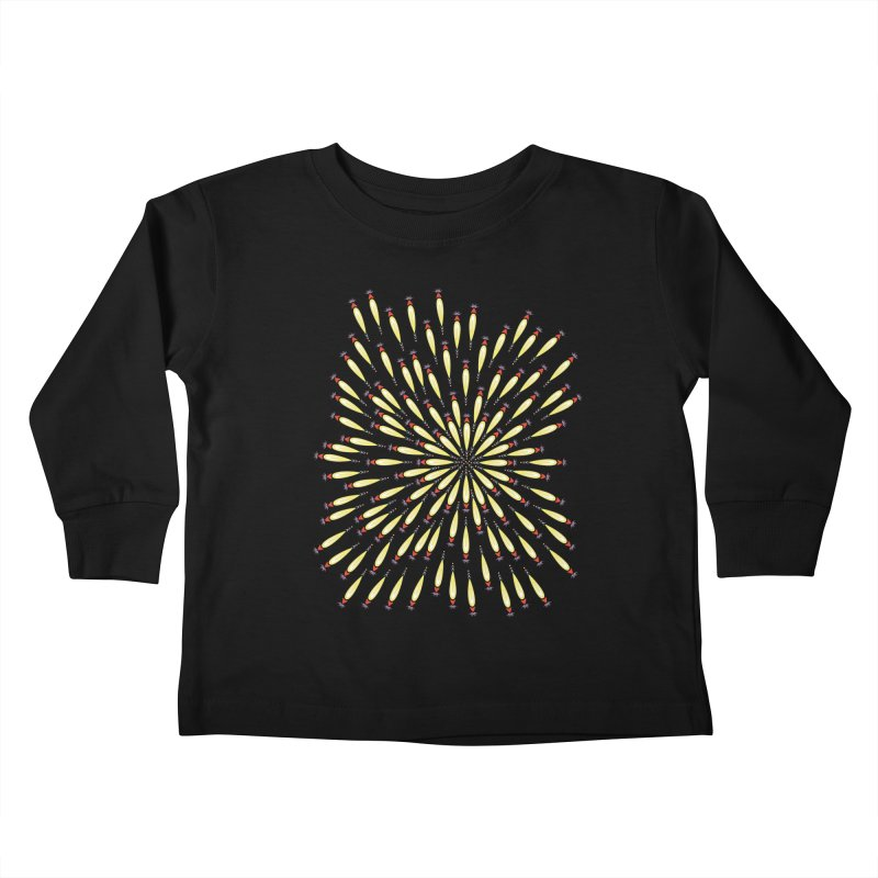 Flower Burst Kids Toddler Longsleeve T-Shirt by Kira Seiler